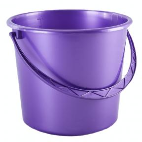 Ведро пластмассовое 14л фиолетовая перлина