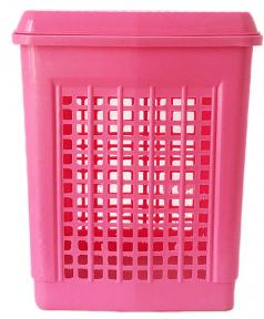 Корзина для пластмассовая белья 55л Розовая