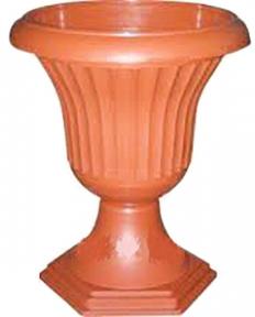 Цветочный горшок ребристый 14л коричневый