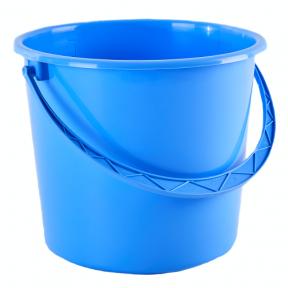 Ведро пластмассовое 10л голубое
