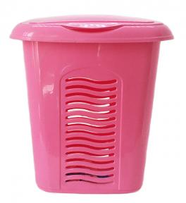 Корзина для белья пластмассовая 40л малая Розовая