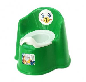 Горшок детский пластмассовый Кресло зелёний