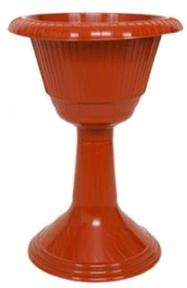 Цветочный горшок высокий №2 коричневый