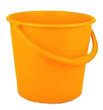 Ведро пластмассовое 5л эконом оранжевый