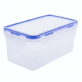 Контейнер пластмассовый 6.0л с зажимами прямоугольный