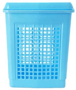Корзина для белья пластмассовая 55л Голубая