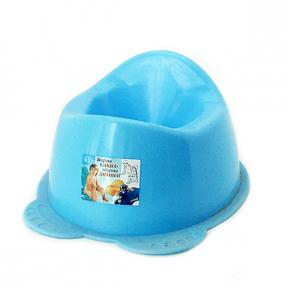 Горшок детский пластмассовый  Панда  голубой