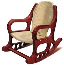Кресло-качалка детское пластмассовое коричневое
