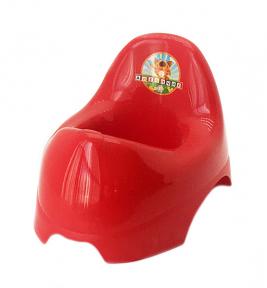 Горшок детский пластмассовый  Бамбино  красный