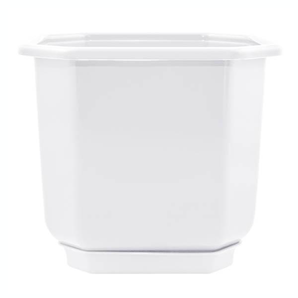 Цветочный горшок Дама 0.28л 80х80х70мм белый