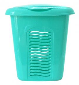 Корзина для белья пластмассовая 40л малая Бирюза