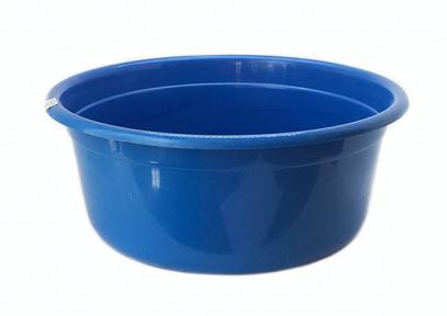 Таз пластмассовый 50л круглый синий