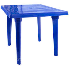 Стол пластмассовый 80х80 см квадратный синий