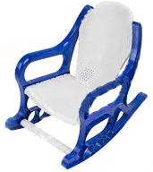 Кресло-качалка детское пластмассовое синее