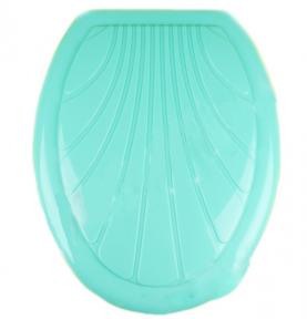 Сиденье унитаза пластмассовое  Люкс  зеленое