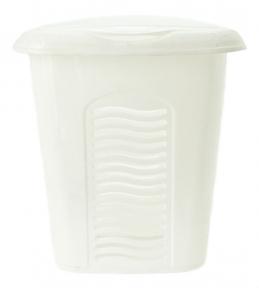 Корзина для белья пластмассовая 40л малая Белая