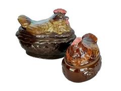 Горшок глиняный набор: курица и 4 цыпленка