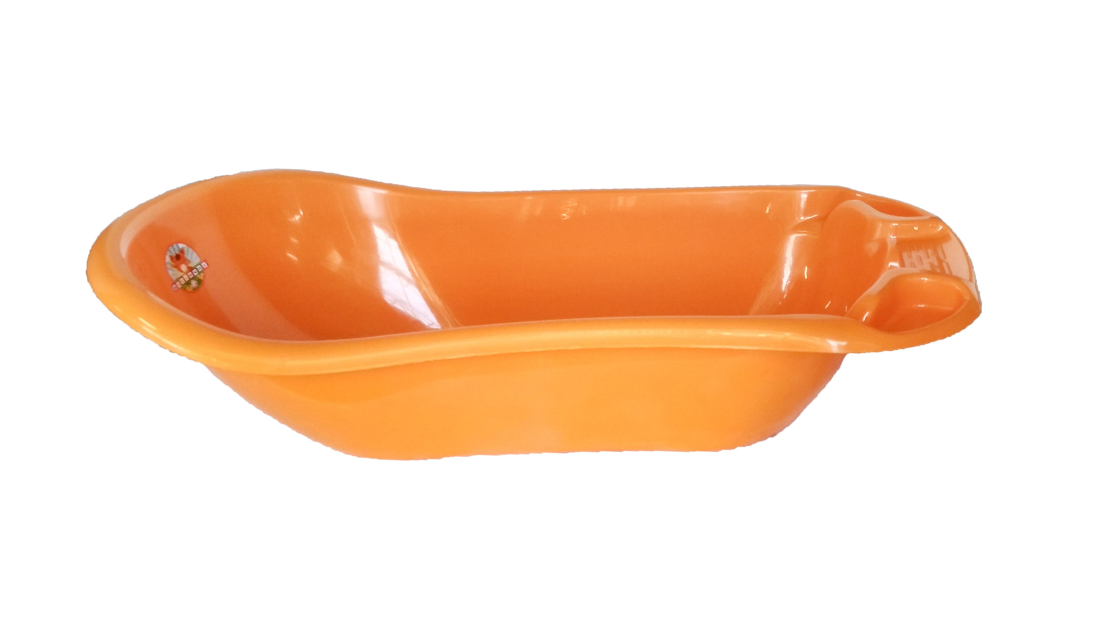Ванна детская пластмассовая светло оранжевая