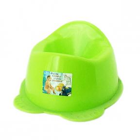 Горшок детский пластмассовый  Панда  оливковый