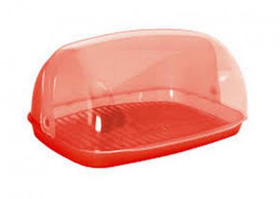 Хлебница малая пластмассовая красная