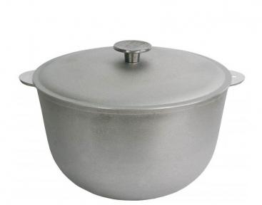 Казан алюминиевый литой 6.0л К0600 с крышкой