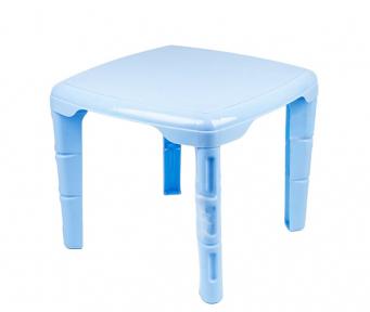 Стол детский пластмассовый 560х560мм квадратный голубой