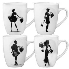 Чашка керамическая 360мл Дамы 040-01-20