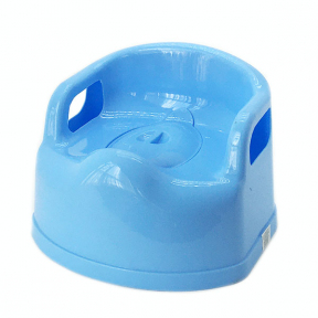 Горшок детский пластмассовый Люкс голубой