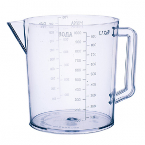 Кружка пластмассовая 1.0л мерная