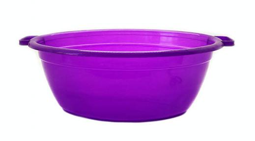 Таз пластмассовый 25л овальный фиолетовый