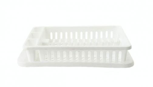 Сушка для тарелок пластмассовая 12 тарелок белая