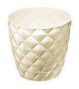 Горшок цветочный пластмассовый  №1 0.75л Стоун белый