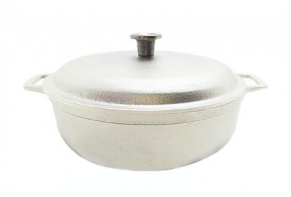 Казан алюминиевый литой 3.0л низкий П