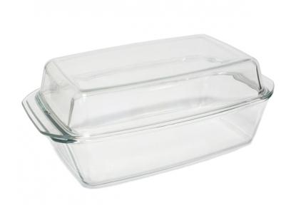 Кастрюля стеклянная 3.0л прямоугольная