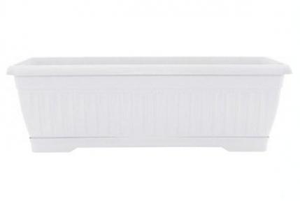 Цветочный горшок Терра 9л 500х190мм балконный белый