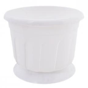 Цветочный горшок Рина 0.55л 120мм белый