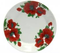 Тарелка керамическая Маки №7 8866