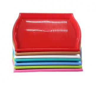 Разнос пластмассовый прямоугольный 500х350 розовый