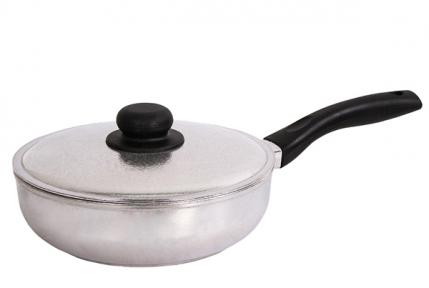 Сковорода алюминиевая литая Блеск 220 мм 2209БК