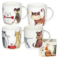Чашка керамическая  Коты  360мл