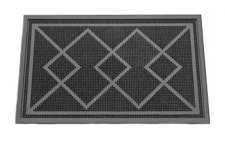 Коврик резиновый 58*36.5см Геометрический рисунок К-5