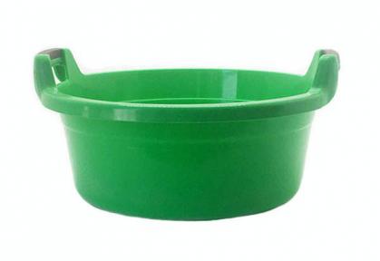 Таз пластмассовый 30л круглый с ручками зелёный