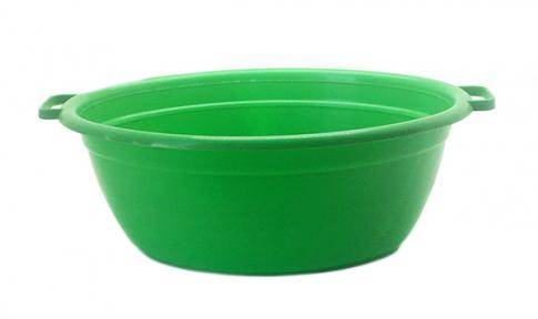 Таз пластмассовый 25л овальный зелёный