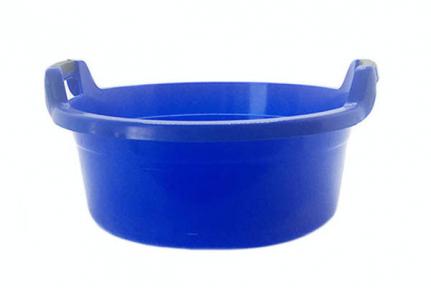 Таз пластмассовый 20л круглый с ручками синий