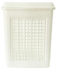 Корзина для белья пластмассовая 55л Белая