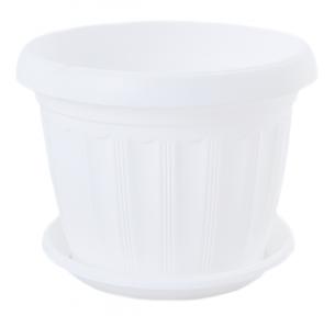 Цветочный горшок Терра 0.8л 140x110мм белый