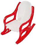 Кресло-качалка детское пластмассовое красное