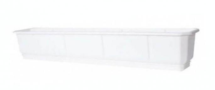 Цветочный горшок балконный Дама 1000х180мм белый