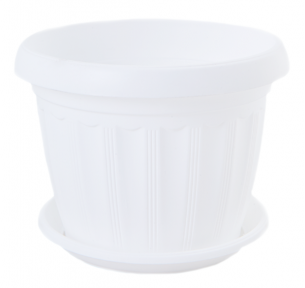 Цветочный горшок Терра 1.6л 170x130мм белый