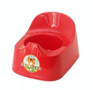 Горшок детский пластмассовый  Малятко  красный